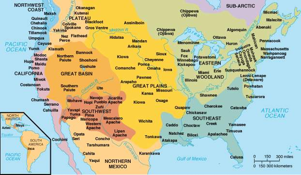 Pre Columbian North America Map Image Gallery Website With Pre